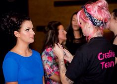 Behind the scenes at Holyoaks charity fashion show