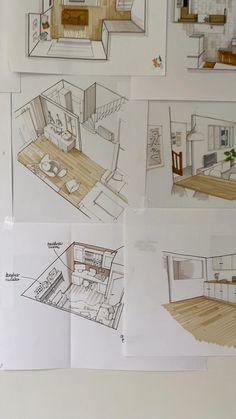 Plan Concept Architecture, Interior Architecture Drawing, Architecture Drawing Sketchbooks, Drawing Interior, Interior Sketch, Conceptual Architecture, Architecture Student, Interior Design Jobs, Interior Design Renderings
