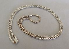"""MENS WOMENS 24"""" ITALY STERLING SILVER THICK BOX CHAIN NECKLACE HEAVY 23.2 GRAMS"""