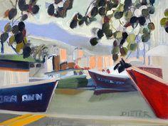 Pier 36 | by Ellen Dieter #EllenDieter #Oil #CedarStreetGalleries