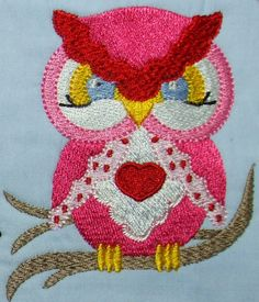 Valentine Owls  4x4 hoop size Formats: pes, jef, hus, xxx, dst, ext, shv, sew, vip  Set of twelve designs. Can be combined as shown below.