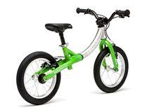 LittleBig's Green Balance Bike converts from a balance bike into a big pedal bike. Balance Bike, Rear View, Bicycle, Apple, Big, Green, Apple Fruit, Bike, Bicycle Kick