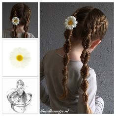 Five strand french braid into fishtail bubble braids with a hair flower from Goudhaartje.nl This hairstyle is inspired by: @mimiamassari (instagram) #fivestrandbraid #fishtailbraid #bubblebraid #braid #braids #hair #hairstyle #hairstylesforgirls #longhair #cute #lovely #sweet #hairflower #flower #hairaccessories #hairinspiration #hairinspo #braidideas #braidinspiration #braidinspo #hairideas #plait #goudhaartje