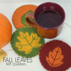 Fall Leaf Felt Coasters
