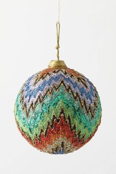 Missoni pattern bauble by Anthropologie