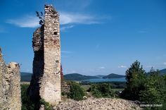 Divin Castle in the south of Central Slovakia was built by the end of the century and it played an important role as an anti-Turkish fort in the century. Castle Ruins, 16th Century, Czech Republic, Chateaus, European Countries, Building, Castles, Travel, Palaces