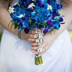 Wedding bouquet with photos