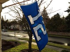 Weathered The Storm.  My wet 12 Flag on my porch for the rainy NFC Championship game where Seahawks beat the Pack, 20150118, #GoHawks