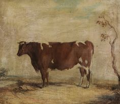 Cow Painting / Gentry would often have their prized animals painted by artists.