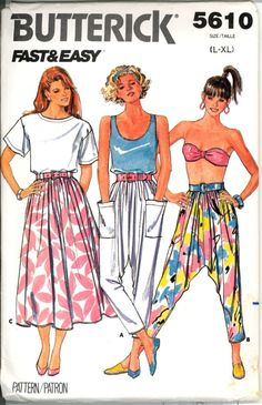 One of my favorite skirts to make but those pants!!  I think I made one pair of them.  LOL  80's fashion??