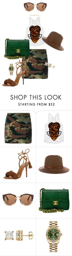 """Untitled #221"" by iamchictrend on Polyvore featuring Ashish, Aquazzura, rag & bone, Marni, Chanel, Rolex and Aqua"
