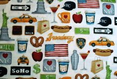 Patchworkstoff New York Big Apple