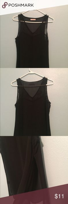 Nordstrom hinge sheer top. Size small. Sheer with lace upper portion. One zipper on the side. In great used condition! Only worn a few times since it's a little long on me. Super cute! Nordstrom Tops Tank Tops