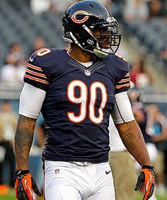 Chicago Bears DE Julius Peppers Love you Julius...your my daughter favorite bear