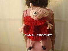 Mochila Peppa Pig Amigurumi - Patrón Gratis en Español - Click aquí: http://amigurumilacion.blogspot.com.es/2015/05/mochila-trapillo-peppa-pig-patron-libre.html