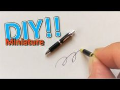 DIY/Miniature ballpoint pen(actually works!!)ミニ ボールペンの作り方 - YouTube