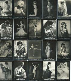 Greece 20 Vintage ''FRESCO MEXI'' Cigarette Photo Cards 36x52mm Artistic Nude  | eBay