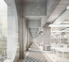 Fiechter & Salzmann . New University Biomedicine Department . Basel . Competition entry .