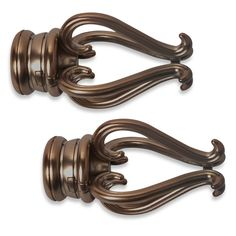 Cambria® Premier Complete Florentine Finial in Oil Rubbed Bronze (Set of 2)