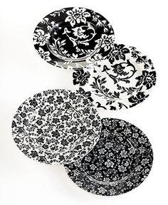 Martha Stewart Collection Dinnerware, Set of 4 Geneva Dessert Plates - Casual Dinnerware - Dining & Entertaining - Macy's