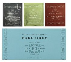 Harney  Sons Earl Grey 50 Tea Bags With Bonus 1 Green Citrus Ginkgo1 Decaff Earl Grey1 Cinnamon Spice Total of 53 Tea Bags * You can find out more details at the link of the image.