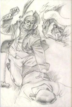 Ron Stenberg, 'Illustration for Treasure Island' Graphite on paper, POA at the Remuera Gallery