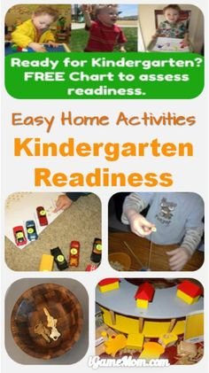 Kindergarten readiness check list and activities to help your kids get ready for kindergarten. All activities are easy to do at home.