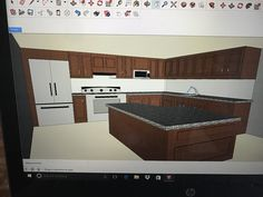 Goggle sketchup kitchen