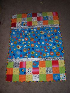 Dr. Seuss Baby Quilt...love this one.