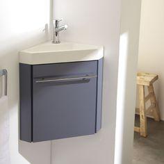 Nouveauté ! Meuble lave-mains d'angle gris souris. #meuble