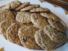 Ma cuisine...sans prétention: Biscuits au gruau et raisins secs