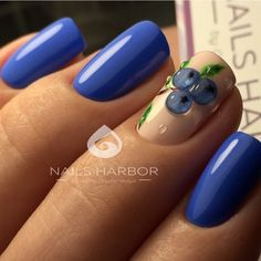 Best Beauty Nails Part 10 Manicure Set, Pedicure, Blue Nails, My Nails, Autumn Nails, Short Nails, Nail Tips, Beauty Nails, Nail Care