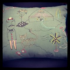 We love the detail of this cute and quirky cushion