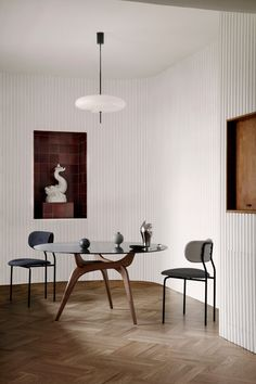A collection of tables designed by architect Hans Bølling in the 1950s but never produced has launched at IMM Cologne, which began today