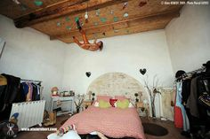 Rock climbers ceiling