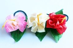 3ways hibiscus accessories(PW3pic),Ponytail Holders,ukulele,Women Hair Accessory,tropical accessoties,tropical bows,hawaii,party favors, Hawaiian Party Favors, Ukulele Accessories, Ukulele Case, Ribbon Lei, Ponytail Holders, Hair Accessories For Women, Pink White, White Beige, Colorful Flowers