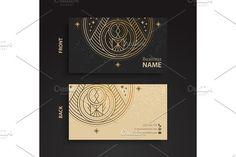 Business Card Vintage Decorative Elements Templates Hand Drawn Background By ViSnezh