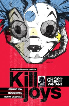 The True Lives of the Fabulous Killjoys #1 (Gerard Way Ghost variant cover) [Order - http://chapel-hill-comics.myshopify.com/collections/true-lives-of-the-fabulous-killjoys/products/true-lives-of-the-fabulous-killjoys-1-ghost-variant-gerard-way-cover]