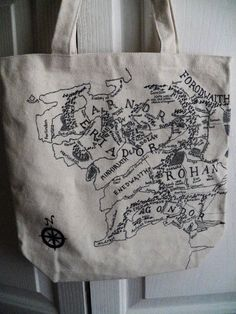 Lord of the Rings Middle Earth Tote Bag