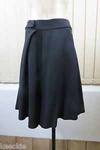 Size L 14 Veronika Maine Ladies Black Skirt A Line Work Gothic Corporate Style | eBay