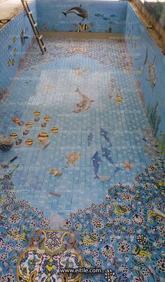 #Iranian_ceramic_for_swimming_pool Handmade Tiles, Handmade Ceramic, Exterior Design, Interior And Exterior, Swimming Pool Decorations, Floor Carpet Tiles, Swimming Pool Tiles, Picture Tiles, Tile Panels