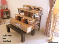 Do it yourself Golu steps - Baby DIY Projects