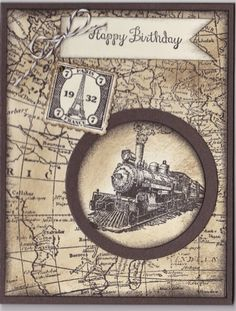 Magnolia's Place: Stampin' Up! Traveler, World Map Another Great Year; Early Espresso Very Vanilla Paper; Early Espresso Soft Suede Ink