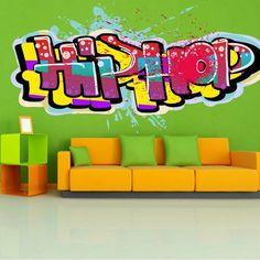 Wall Sticker Graffiti Hip Hop 2490f by artstickercouk on Etsy, £23.00