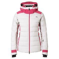 KJUS Snowscape Down Ski Jacket in String Melange/Geranium (Women's) | Peter Glenn