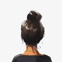 """hair art-bun print-"" Top Knot 37 "" - 8 x 10 Haar Kunstdruck Brötchen Haarknoten La mejor imagen sobre decorating ideas for the home par - Art And Illustration, Illustrations, Gouache Painting, Watercolor Paintings, Watercolor Girl, Girl Clipart, Top Knot, Knot Bun, Bun Bun"