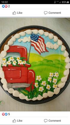 Cow Cakes, Cupcake Cakes, Cookie Cake Designs, Cookie Ideas, Fun Cookies, Cake Cookies, Chocolate Cookies, Giant Chocolate, Fourth Of July Cakes