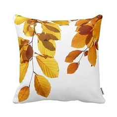 Autumn Leaves pillow cover, more bargain throw pillows for under $10 on DuctTapeAndDenim.com