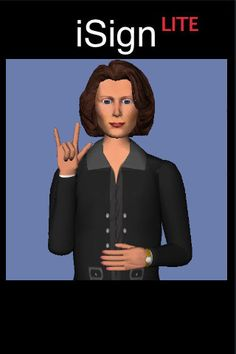 iSign Lite (FREE) is an ANIMATED phrase book of basic American Sign Language (ASL) gestures. Each of the gestures is modeled with a 3D character and completely animated. The vantage point for each sign was chosen so that the user can see the details of the hand positions.