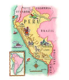Mapa de Perú, Maral Sassouni.